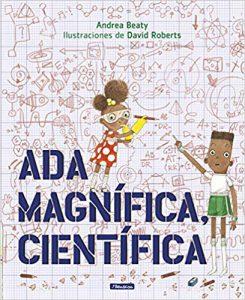 """Portada del libro """"Ada, magnífica científica"""""""